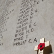 Names on the Menin Gate in Ypres — Stock Photo