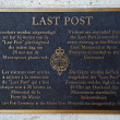 Plaque in the Menin Gate — Stock Photo