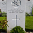 Stock Photo: Grave of a Soldier of the Great War in Tyne Cot Cemetery