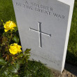 Stock Photo: Grave of Soldier of Great War in Tyne Cot Cemetery