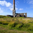 Chimney Remains at Levant Tin Mine in Cornwall — ストック写真