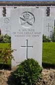 Hrob vojáka války v tyne cot hřbitov — Stock fotografie