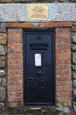 First and Last Post Box in England - Lands End. — Stock Photo