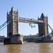 Tower Bridge and the Paralympic Rings — Stock Photo