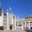 London Guildhall and Guildhall Art Gallery — Stock Photo