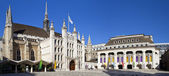 Guildhall di londra e guildhall art gallery — Foto Stock
