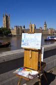 Painting the Houses of Parliament — Stock Photo