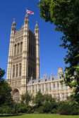 The Victoria Tower of the Houses of Parliament — Stock Photo