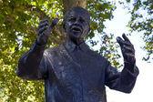 Nelson Mandella Statue in London — Stock Photo