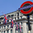 London Underground and Union Flags — Stock Photo #12956616