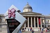 Galeria nacional e o relógio de contagem regressiva olímpica em londres — Foto Stock