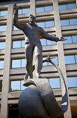 Yuri Gagarin Statue in London — Stock Photo