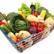 Shopping Basket Full of Vegetables — Stock Photo