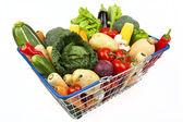 Shopping Basket Full of Vegetables — Stock Photo