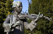 Mozart statue in Parade Gardens, Bath — Stock Photo