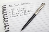 New Years Resolutions — Stock Photo