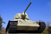 Tank at the Soviet War Memorial in Berlin — Stock Photo