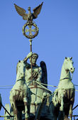 Brandenburg Gate Quadriga in Berlin — Stock Photo
