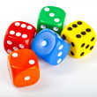 Dice over a plain background. — Stock Photo