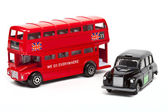 London Red Bus and Taxi — Stock Photo