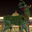 Stock Photo: Topiary Reindeer in Covent Garden at Christmas