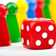 Board Game Pieces and Dice — Stock Photo #16440819
