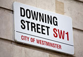 Downing Street in London — Stock Photo