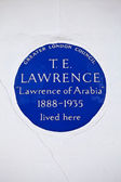T. E. Lawrence Blue Plaque in London — Stock Photo