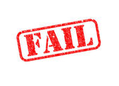 Fail Stamp — Foto de Stock