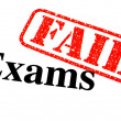 Stock Photo: Failed Exams