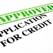 Stock Photo: Approved Application For Credit