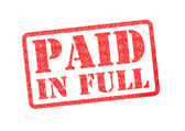 PAID IN FULL — Stock Photo