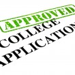 Approved College Application — Stock Photo