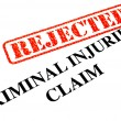 Stock Photo: Unsuccessful Criminal Injuries Claim