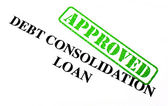 Approved Debt Consolidation Loan — Stock Photo