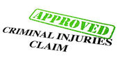 Approved Criminal Injuries Claim — Stock Photo