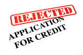 Rejected Application for Credit — Stock Photo