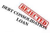 Odrzucić zadłużenia kredyt konsolidacyjny — Zdjęcie stockowe