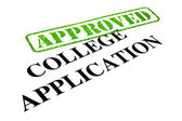 Approved College Application — 图库照片