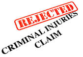 Unsuccessful Criminal Injuries Claim — Stock Photo