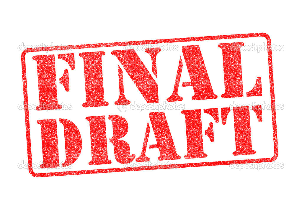 final draft Final draft definition is - a final version of something (such as a document) usually after a lot of editing and rewriting how to use final draft in a sentence a final version of something (such as a document) usually after a lot of editing and rewriting see the full definition.