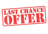 LAST CHANCE OFFER — Stock Photo