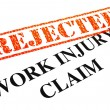 Royalty-Free Stock Photo: Work Injury Claim REJECTED