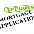 Stock Photo: Mortgage Application APPROVED