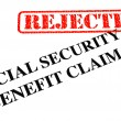 Foto de Stock  : Social Security Benefit Claim REJECTED