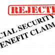 Stockfoto: Social Security Benefit Claim REJECTED