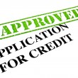 Application For Credit APPROVED — Photo