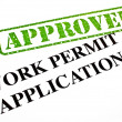 Work Permit Application APPROVED - Stock Photo