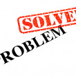Stock Photo: Problem SOLVED