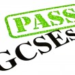 Foto de Stock  : GCSEs PASSED
